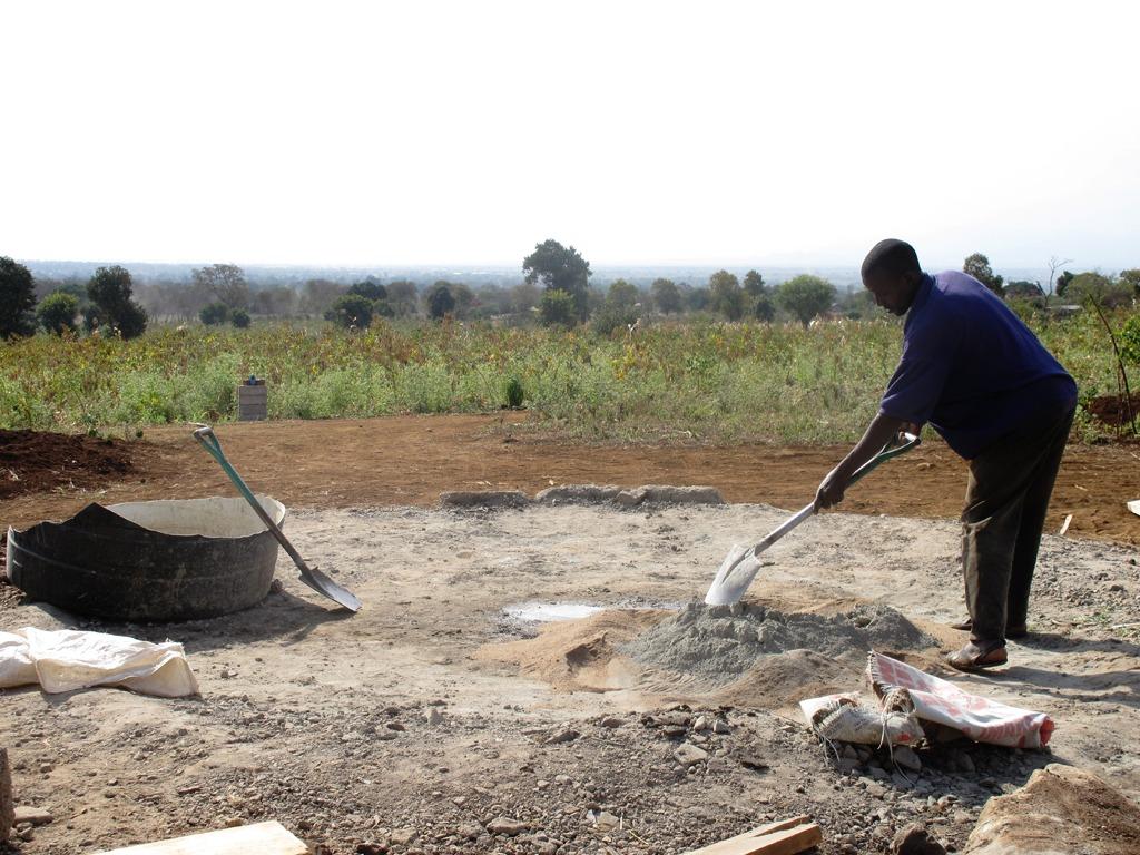 Shilia blandar cementbruk